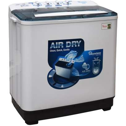 RAMTONS TWIN TUB DELUXE SEMI AUTOMATIC 8KG WASHER- RW/208 image 1
