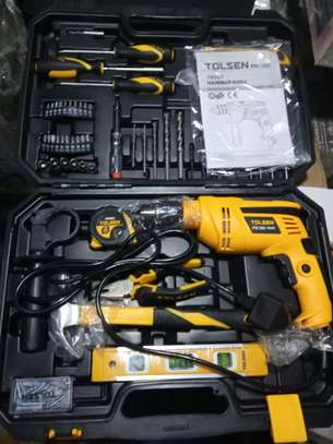 TOLSEN 95pcs Hand Tool Set with Hammer Drill (710W) Industrial Series