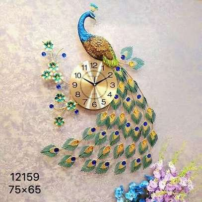 wall clock Peacock image 1