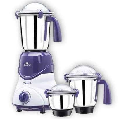 Bajaj Trio 600-Watt Mixer Grinder with 3 Jars (White/Lavender) image 1