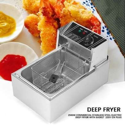 Nunix 6L Commercial Single Stainless Steel Deep Fryer image 2