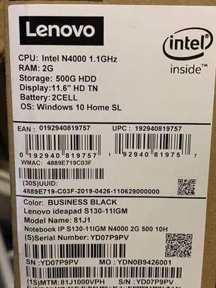 Lenovo Ideapad S130 Full Version Windows 10 Installed 11.6 - Intel Celeron N4000 - 500GB HDD - 4GB RAM image 4