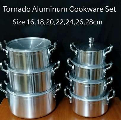 World Tornado Heavy Duty Aluminum's Cookware 7 Pot Sufuria Set With 7 Lids image 1