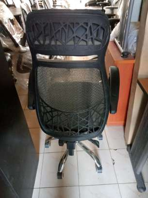 office chair orthopedic black with head rest image 2