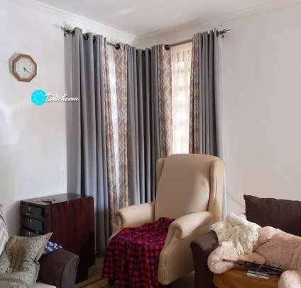 elegant grey custom-made double sided curtains image 1