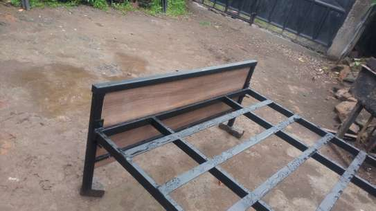 METAL FRAME BED WITH WOODEN FINISH FROM 3*6 TO 6*6 image 13