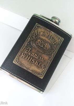 Jack Daniel's Leather Covered Whiskey Flask