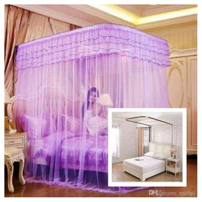 Mosquito Net With 2 Stands Without rails- -purple 4*6/5*6/6*6 image 1
