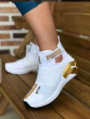 White Puma Sneakers image 1