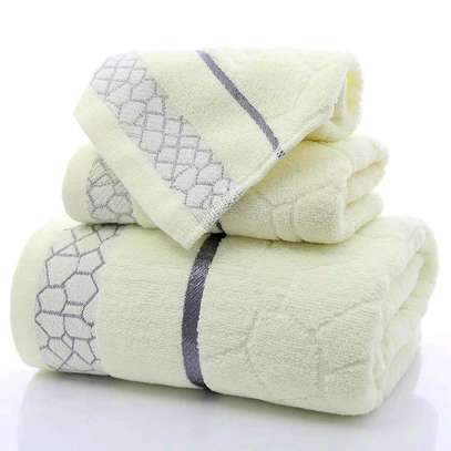 Classy cotton anti-lint 3 in one towels image 3