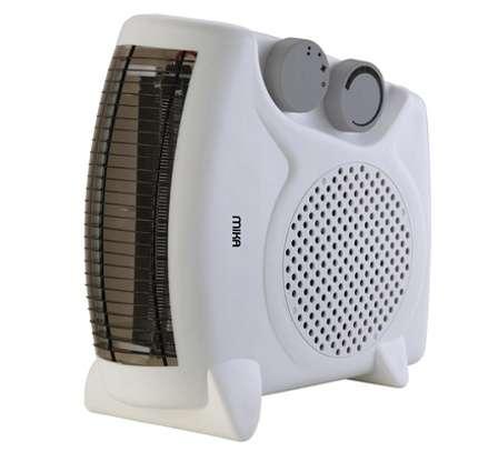 MIKA Fan Heater, 1000-2000W, White image 1