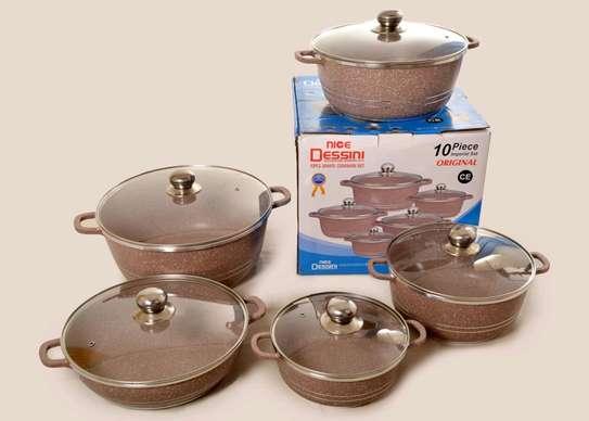 Original dessini granite sufuria/Dessini nonstick sufuria/10pc dessini cookware image 2