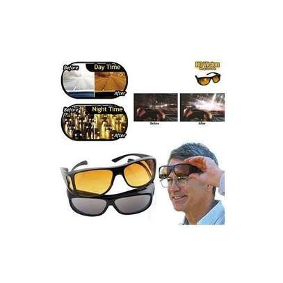 Fashion 2 In 1 Night And Day Vision Sunglasses. image 1