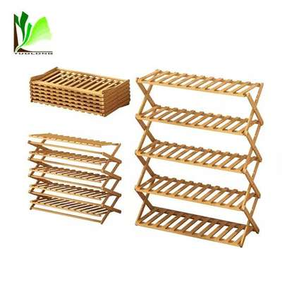 6 layer bamboo shoe rack image 1