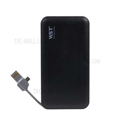 WST 12000mah Power Bank Built-in Cable Portable Battery Charger image 6