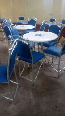 Hotel/Restaurant chairs and tables(4+1) image 1