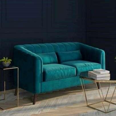 Turquoise blue two seater sofa/Love seat/Best Furniture manufacturers in Nairobi Kenya image 1
