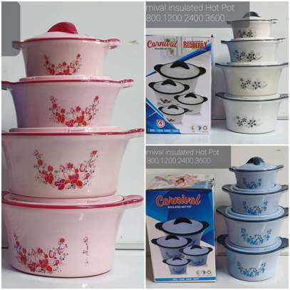 Red-berry HotPot/Serving Dishes Set – 4 Pieces image 2