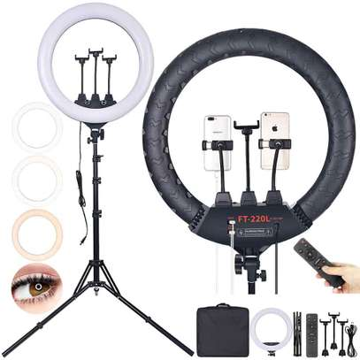 18-inch SMD LED Ring Light Dimmable Lighting Kit with 78.7-inch Light Stand, Filter and Hot Shoe Adapter for Camera Photo Studio LED Lighting Portrait YouTube Video Shooting (No Carrying Bag) image 2