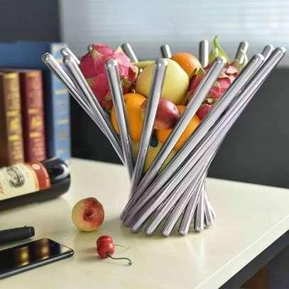 Stylish Stainless Steel Fruit Rack- Round & Portable. image 1