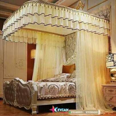 Two stand sliding rails mosquito net
