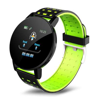 Fitness Tracker  with Heart Rate Blood Pressure   Step Calorie Counter Pedometer Waterproof  -Green image 7