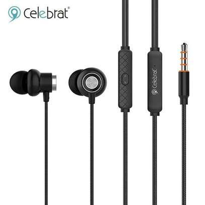 Celebrat D5 Metal Wired Earphone Sport In Ear Hifi Bass Stereo Headset image 1