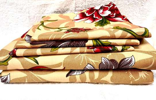 6 PC COTTON BEDSHEET SIZE 7 BY 8 image 2