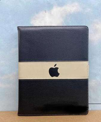 Leather Apple Logo Book Cover Case With In-Pouch For Apple iPad 9.7  2017/2018[5th gen/6th gen] image 2