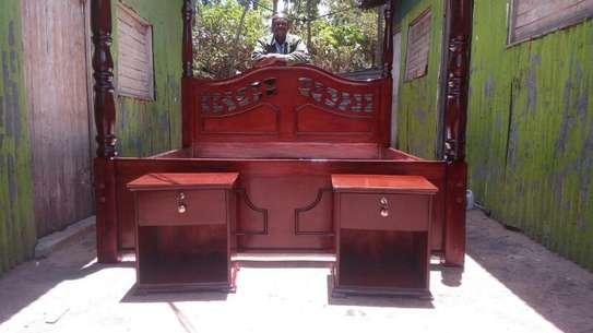 Full Set Bed + Side Drawers image 1