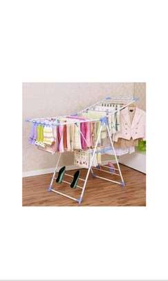 Foldable clothes drying rack. image 3