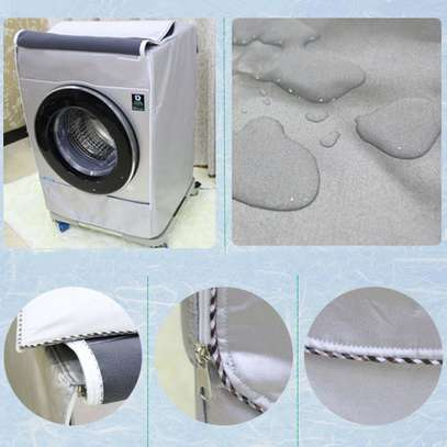 Silver Washing Machine Cover Waterproof washer Cover for Front Load Washer/Dryer image 2