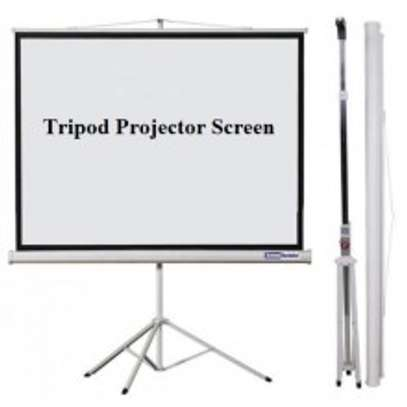 Tripod Projection Screen, 60x60 Inches image 1
