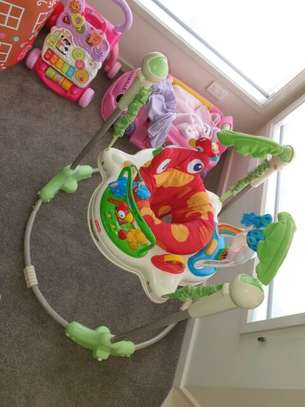 New Seat spins Multifunction rolling Rainforest Jumperoo baby walker jumper with music and toys;