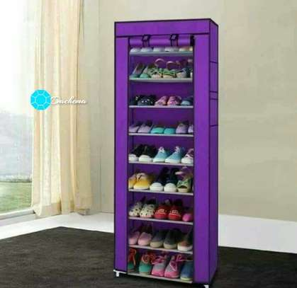 purple one column shoe rack image 1