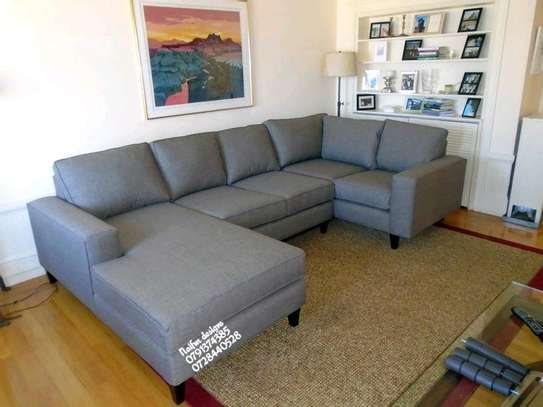 U shaped sofas/grey sofas/eight seater sofas image 1