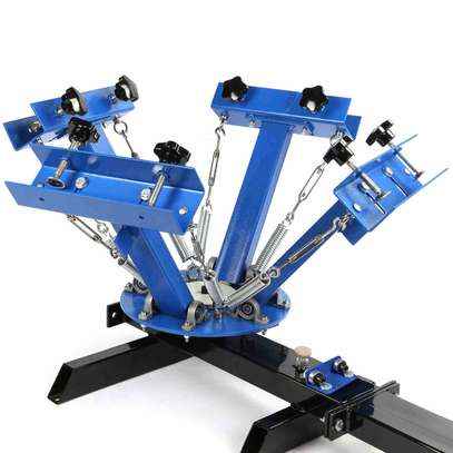 new 4 color 1 station screen printing machine