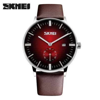 Skmei Mens Luxury Casual Leather Watch 9083 - Blue image 3