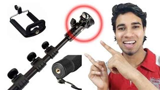 YT-188 Selfie Stick Monopod Yunteng 188 Tripod Mount Adapter With Clip For iPhone 6 6s Samsung HTC For GoPro Hero image 1