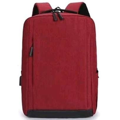 maroon oxford material back pack