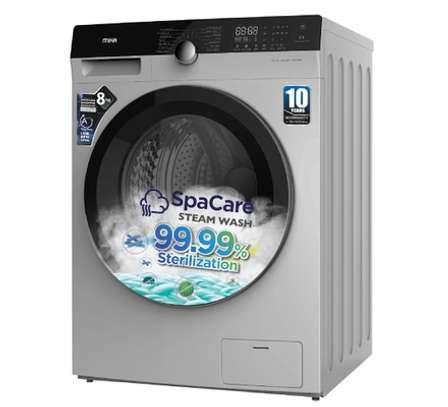MIKA Washing Machine, Inverter Motor, Fully-Automatic, 8Kgs, Dark Silver image 2