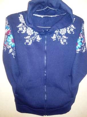 Floral blue hoody image 1