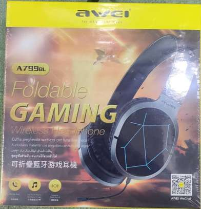 Awei A799BL Foldable Wireless Bluetooth Gaming Headphones With Mic image 3