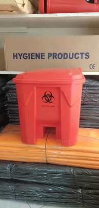 Imported 30 litre (red, black, yellow) bins image 1