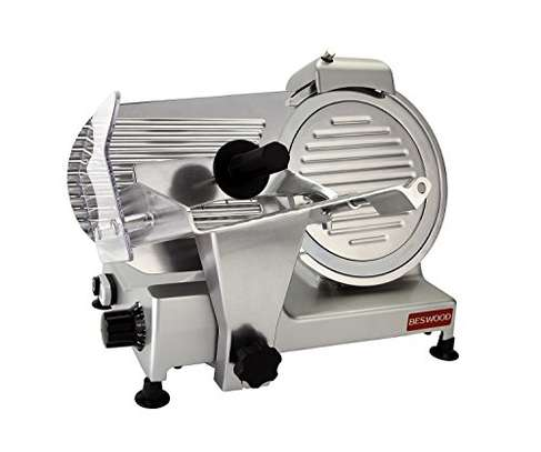 """Food and Meat Slicer 10"""" Blade Big Sliced Meat Exit Behind the Machine for Slice Meat Sliding Out Quickly image 2"""