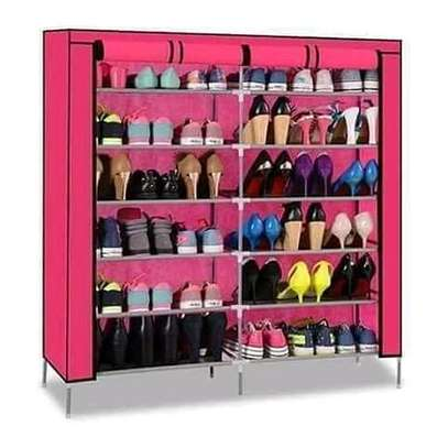 Executive shoe rack that holds up to 36 pairs of shoes