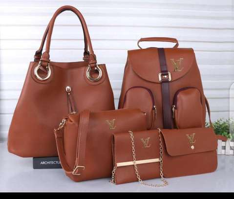 5 in 1 nice and beautiful ladies handbags