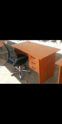 Work desk with an office chair