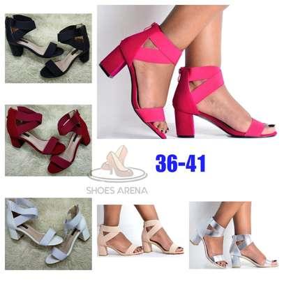 Open chunky heels image 1
