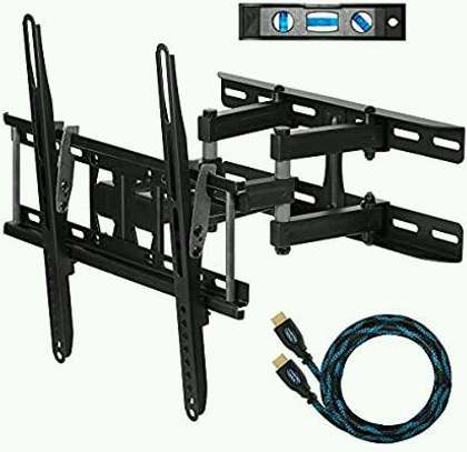 Double arm tv wall mount